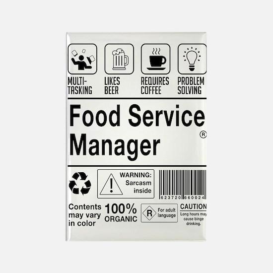 Cute Food service Rectangle Magnet