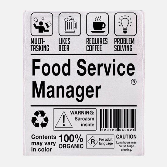 Cool Food service Throw Blanket