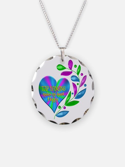 Tap Dancing Happy Heart Necklace