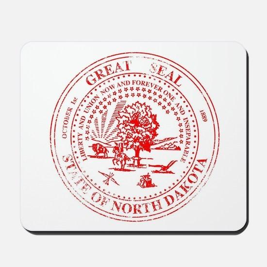 North Dakota Seal Rubber Stamp Mousepad
