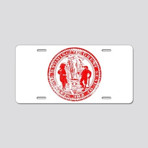 Wyoming Seal Rubber Stamp Aluminum License Plate