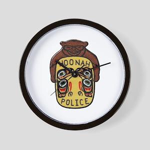 Hoonah Police Wall Clock