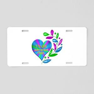 Tai Chi Happy Heart Aluminum License Plate