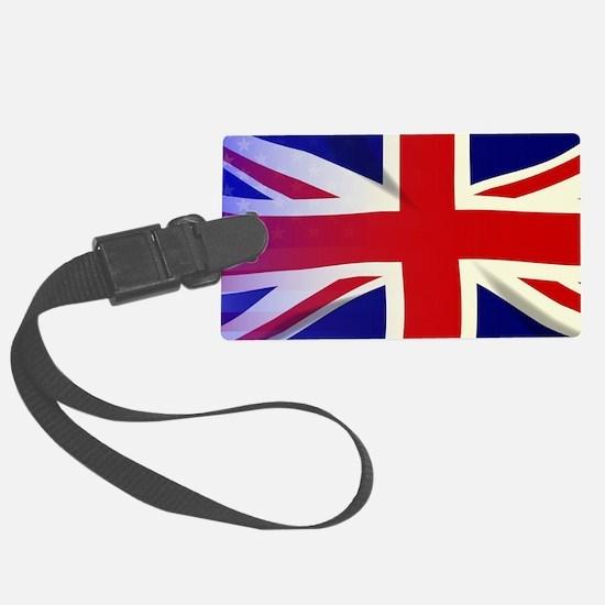 British and american flag Luggage Tag