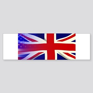 Union Jack Stars and Stripes Bumper Sticker