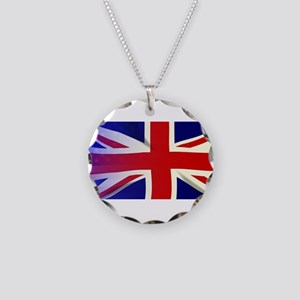 Union Jack Stars and Stripes Necklace Circle Charm