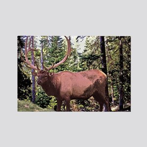 Big bull elk Rectangle Magnet