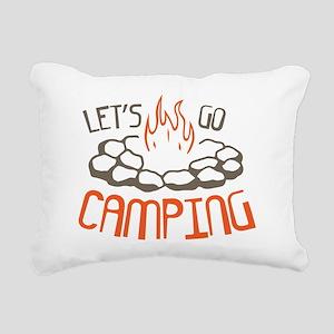 Lets Go Camping Rectangular Canvas Pillow