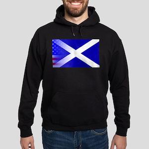 Scottish Flag Stars and Stripes Hoodie (dark)
