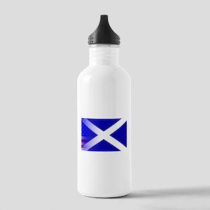 Scottish Flag Stars an Stainless Water Bottle 1.0L