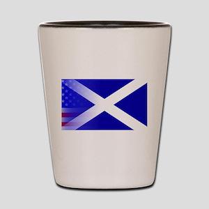 Scottish Flag Stars and Stripes Shot Glass