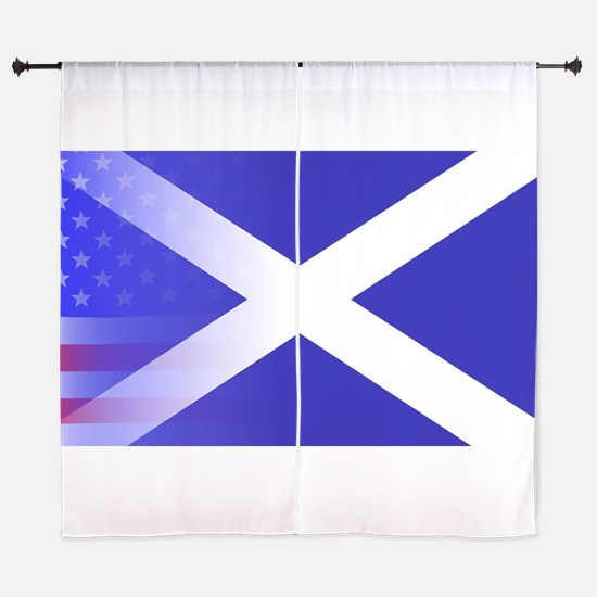 Scottish Flag Stars and Stripes Curtains