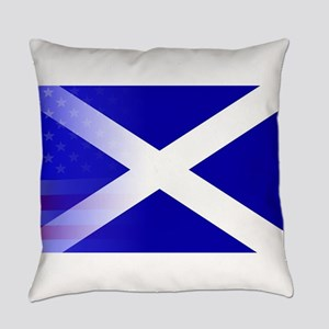 Scottish Flag Stars and Stripes Everyday Pillow