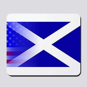 Scottish Flag Stars and Stripes Mousepad