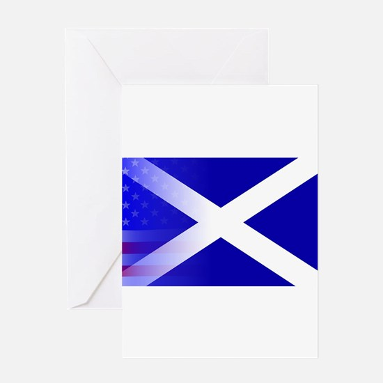 Scottish Flag Stars and Stripes Greeting Cards