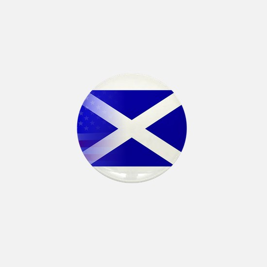 Scottish Flag Stars and Stripes Mini Button