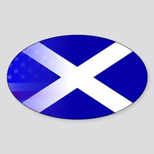 Scottish Flag Stars and Stripes Sticker