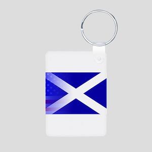 Scottish Flag Stars and Stripes Keychains