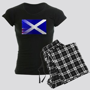 Scottish Flag Stars and Stri Women's Dark Pajamas