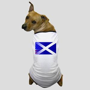 Scottish Flag Stars and Stripes Dog T-Shirt