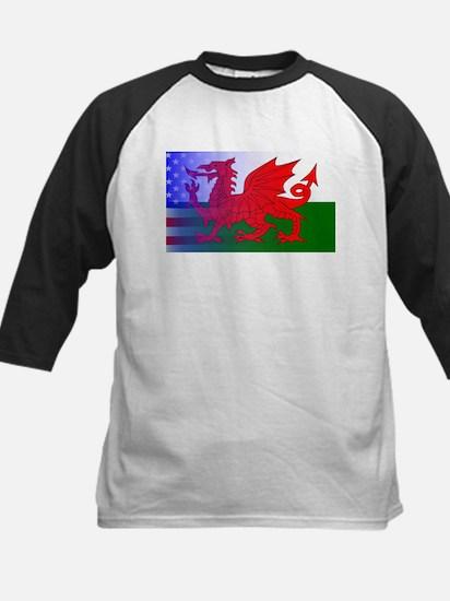 Wales Dragon Stars and Stripes Baseball Jersey