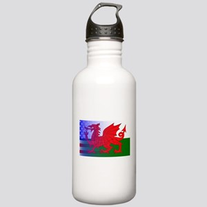 Wales Dragon Stars and Stainless Water Bottle 1.0L