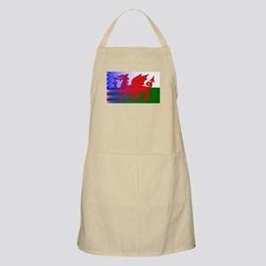 Wales Dragon Stars and Stripes Apron