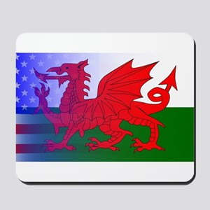 Wales Dragon Stars and Stripes Mousepad
