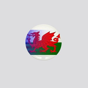 Wales Dragon Stars and Stripes Mini Button