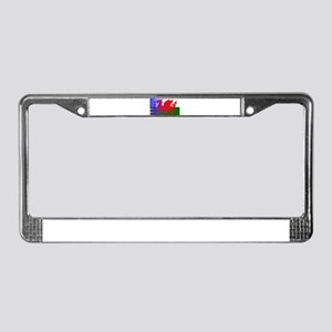 Wales Dragon Stars and Stripes License Plate Frame