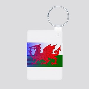 Wales Dragon Stars and Stripes Keychains