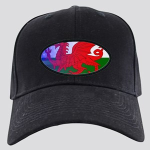 Wales Dragon Stars and Stripes Black Cap