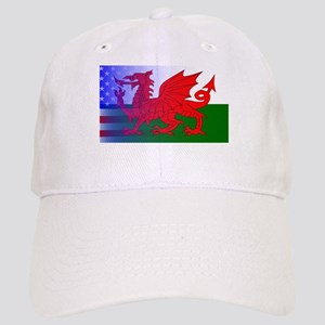 Wales Dragon Stars and Stripes Cap