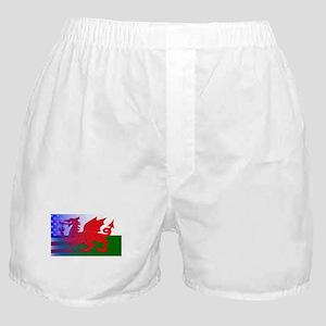 Wales Dragon Stars and Stripes Boxer Shorts
