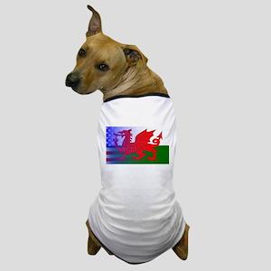Wales Dragon Stars and Stripes Dog T-Shirt