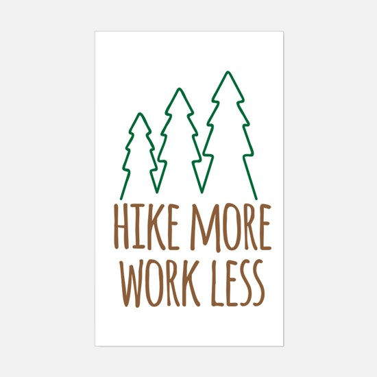 Cute Trekking Sticker (Rectangle)