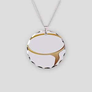 Blank Speech Bubble Necklace Circle Charm