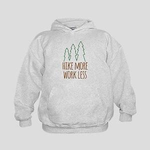 Hike More Work Less Kids Hoodie