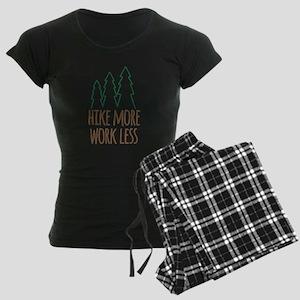 Hike More Work Less Women's Dark Pajamas