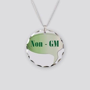 Non GM Speech Bubble Necklace Circle Charm