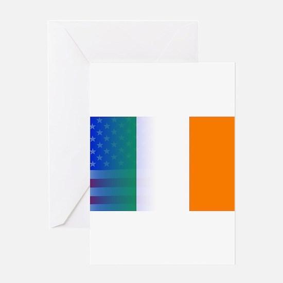 Irish Flag Stars and Stripes Greeting Cards