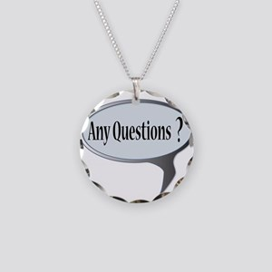 Any Questions Necklace Circle Charm