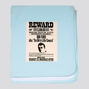 Bob Ford Wanted baby blanket