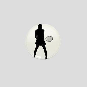 Tennis Girl Mini Button