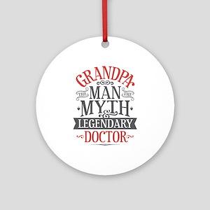 Grandpa Doctor Round Ornament
