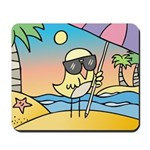 Birdie goes on holidays | Mousepad