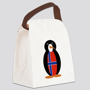 Penguin of Norway Canvas Lunch Bag