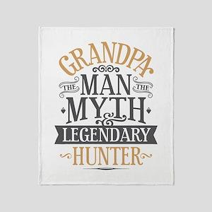 Grandpa Hunter Throw Blanket
