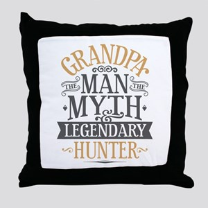 Grandpa Hunter Throw Pillow