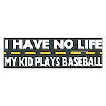 My Kid Plays Baseball Bumper Sticker